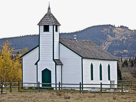 Church, White, Wooden, Perspective, Architecture