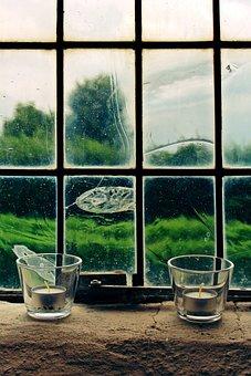 Window, Candles, Candlestick, Glass Window, Prayer