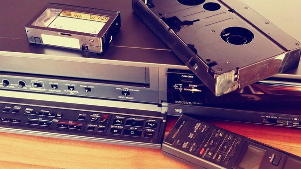 Vcr, Video, Tapes, Movie, Old, Retro, Cassette, Film