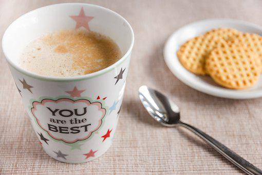 Coffee, Coffee Cup, Cup, Cafe, Porcelain, Foam, Spoon