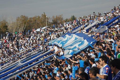 Stadium, Football, Flags, Blue, Court, Popular, Fans