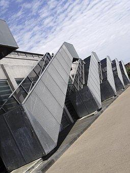 Bordeaux, Stairs, Metal, City, Geometry, Vertical