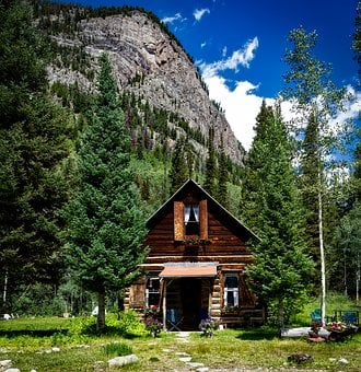Colorado, Log Cabin, House, Home, Cottage, Quaint