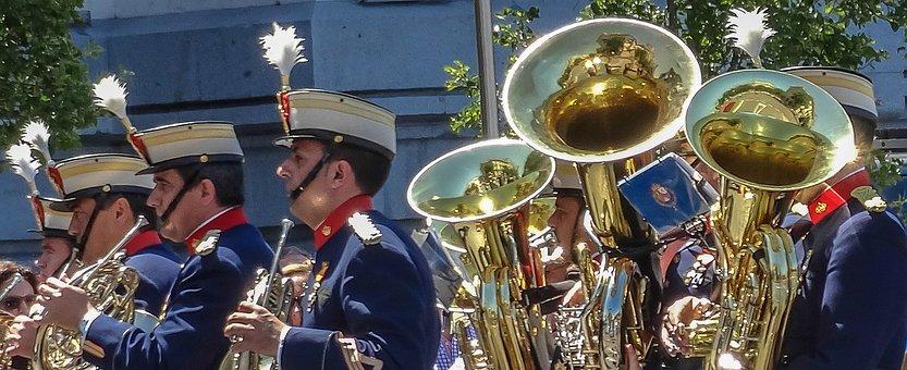 Music Band, Parade, Royal Guard, Military, In Formation