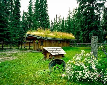 North Pole, Alaska, Village, Log Cabin, Rustic