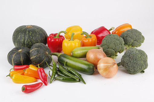 Vegetables, Vegetable Collections, Sweet Pumpkin, Onion