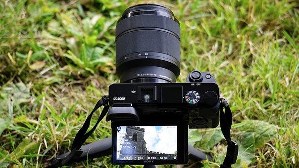 Camera, Sony, Digital, Lens, Technology, Tool, Video