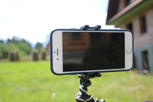 Iphone, Tripod, Timelapse, Video, Recording, Phone