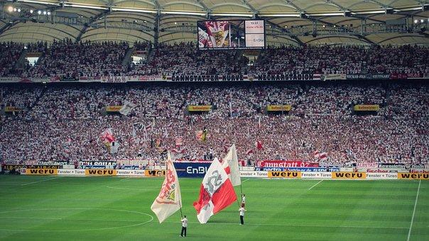 Vfb, Stuttgart, Arena, Stadium, Mood, Bundesliga