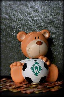 Piggy Bank, Money, Euro, Werderbremen, Fan Articles