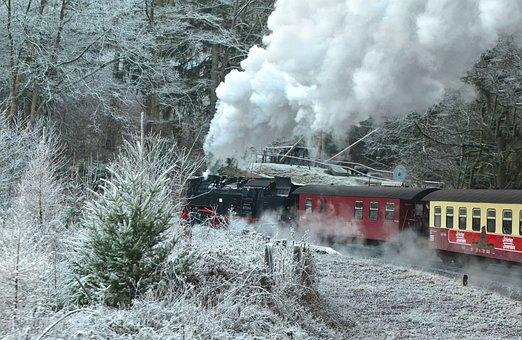 Steam Locomotive, Schmalspurbahn Harzer, Resin, Railway