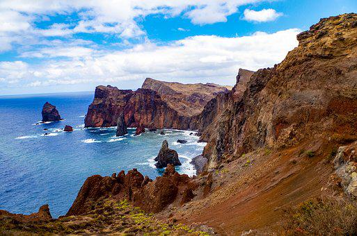 Madeira, Sea, Rock, Sky, Booked