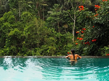Jungle, Girl, Pool, Bali, Ubud, Summer, Love, Alone