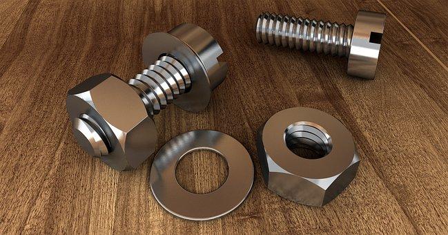 Screw, Thread, Technology, Mother, Metal, Hexagon Nut