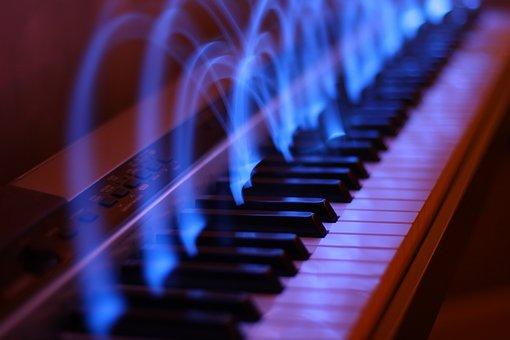 Piano, Music, Light Effect, Long Exposure