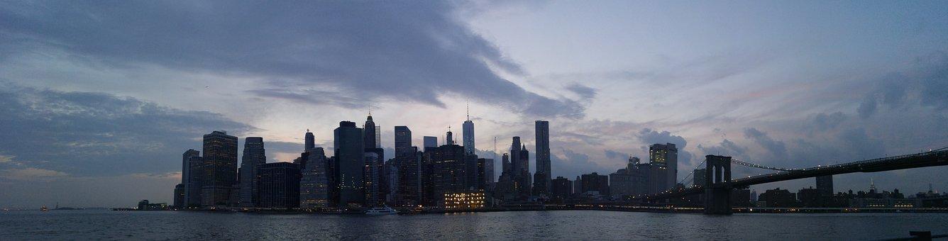 New York, Manhattan, Nyc, Panoramic, New York Skyline