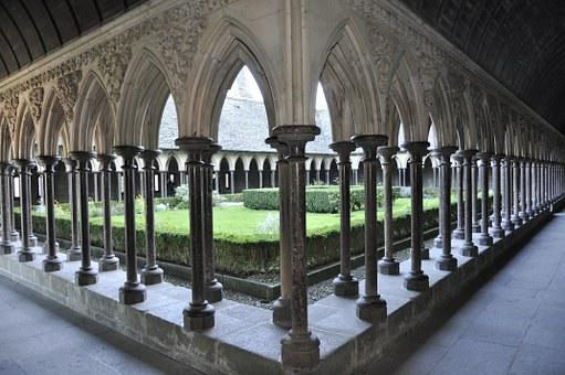 Mont Saint Michel, Abbey, Church, Stones, Bell Tower