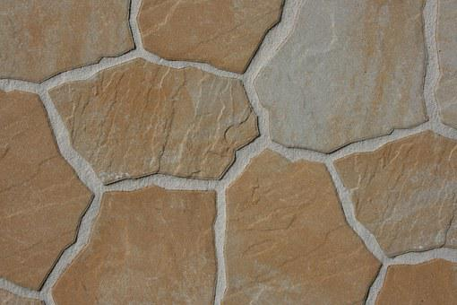 Steinplatte, Brown, Sand Stone, Stone