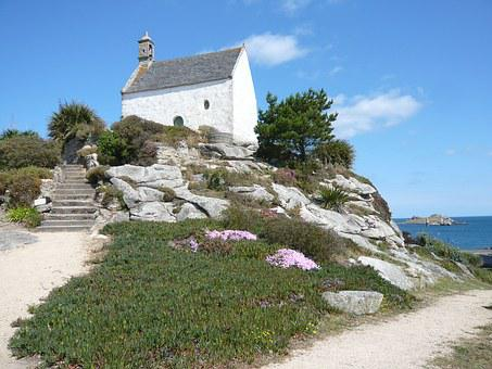 Roscoff, Chapel, Saint Barbara, Sun, France, Side