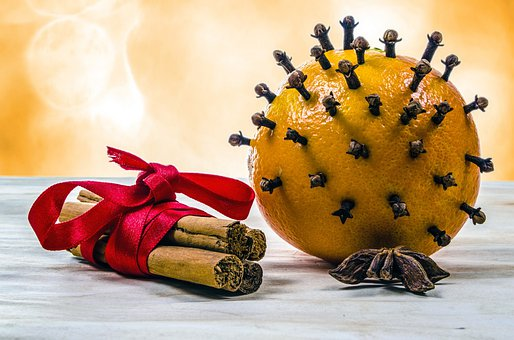 Clove, Cinnamon, Ornament, Fruit, Present, Leaves