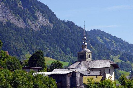 Savoie, Alps, Saint-nicolas-la-chapel, Church, Village