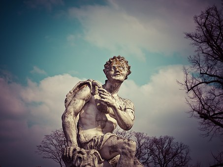 Statue, Sculpture, Fig, Historically, Castle Benrath