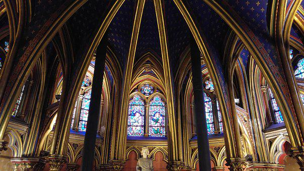 Stained Glass, Sainte Chapelle, Paris, Chapel, Church