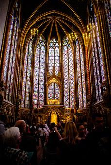 Sainte-chapelle, Paris, Church, Stained Glass Windows