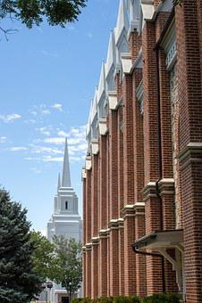 Church, Temple, Spire, Steeple, Sky, Blue, Orange