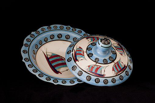 Tile, Handicrafts, Increased, Plate, Bowl, Cover