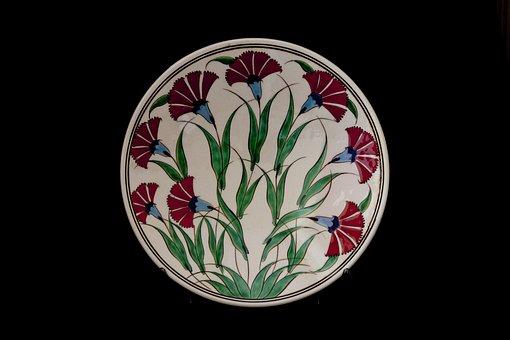 Tile, Handicrafts, Increased, Plate, Ceramic, Turkey