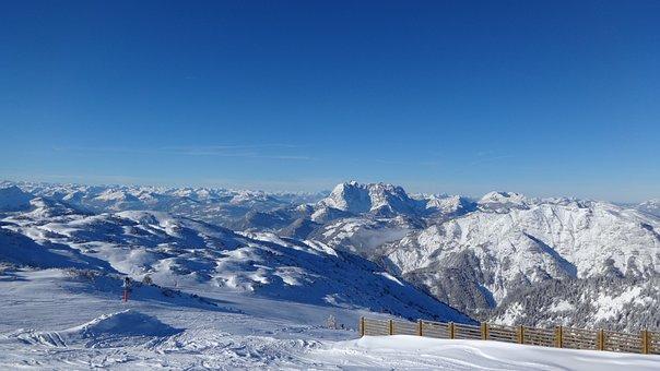 Alpine, Austria, Winter, Panorama, Steinplatte