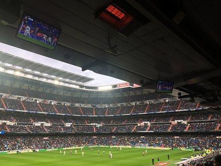 Real Madrid, Santiago Bernabeu, Spain, Football, Game