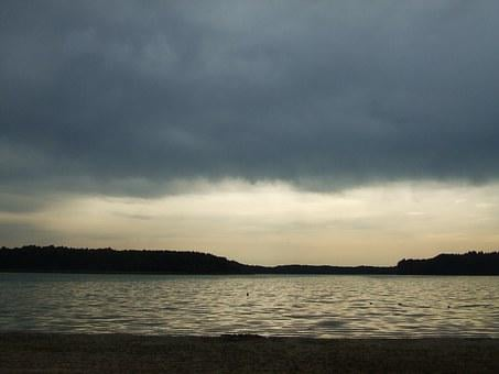 Lake, Rainy Mood, Abendstimmung, Clouds