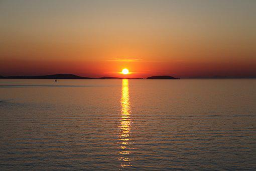 Greece, Naxos, Sunset, Tourism, Travel, Europe