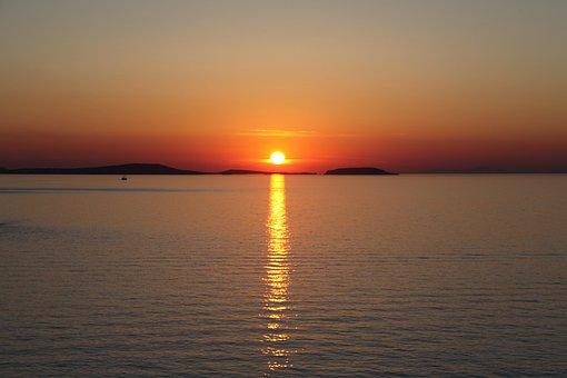 Greece, Naxos, Sunset, Tourism, Travel, Europe
