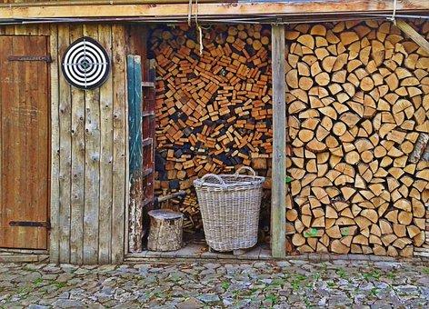 Firewood, Combs Thread Cutting, Holzstapel