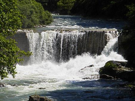La Vésubie, Alps River, Waterfall, Rapids, Rock