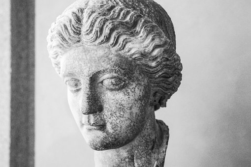 Marble Face, Sad, Old, Stone, Marble, Face, Ancient