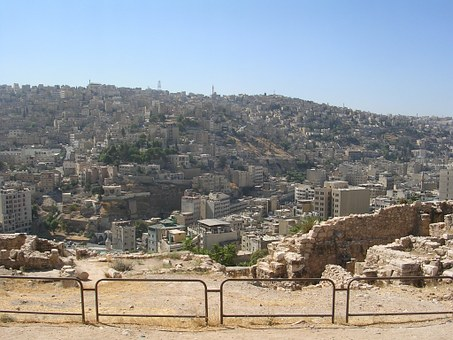 Amman, Jordan, Citadel Hill, Ruin, Middle East, Travel