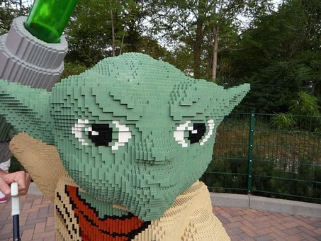 Yoda, Star Wars, Close, Fig, Lego, Lego Blocks