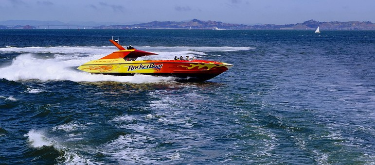 Speedboat, Water, Boat, Ocean, Speed, Fun