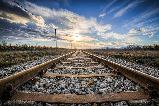 Gleise, Old Railroad Tracks, Seemed, Train, Metal