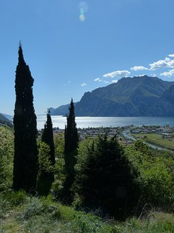 Garda, Outlook, Lake, Holiday, Torbole, Sarca, Cypress