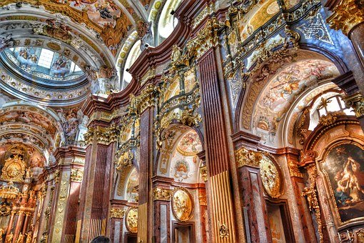 Baroque Church, Collegiate Church, Church, Melk