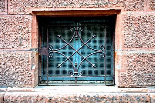 Closed, Locked, Basement, Grid, Cross, Metal Plate