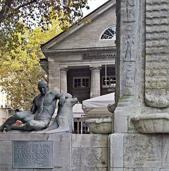 Hamburg, Mönckebergstraße, Moenckebergbrunnen