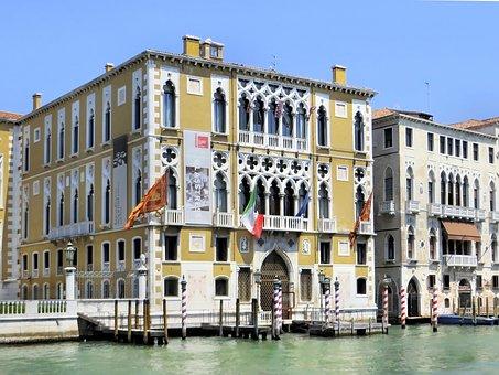 Italy, Venice, Grand Canal, Palace, Ca 'd'oro