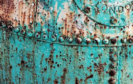 Buoy, Corroded, Rusty, Metal, Steel, Iron, Plate, Bolt