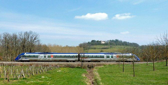 Train, Sncf, Track, Railway, Rails, France, Line